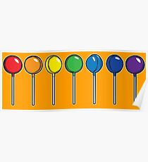 What color is your lollipop / sucker / candy Poster