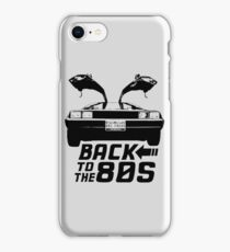 Back To The 80s Delorean  iPhone Case/Skin