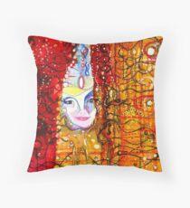 Bjork - Artwork by William Wright Throw Pillow