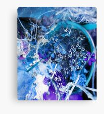 Chaos in Blue Canvas Print
