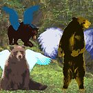 Winged Bears by storecee