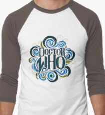 Whimsically Wibbly Wobbly Timey Wimey - Light Shirt Men's Baseball ¾ T-Shirt