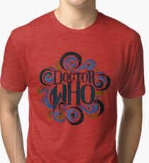 Whimsically Wibbly Wobbly Timey Wimey - Light Shirt Tri-blend T-Shirt