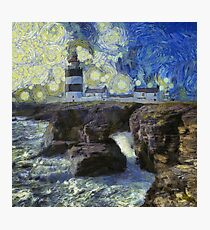 Starry Hook Head Lighthouse Photographic Print