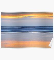 Sunset Colours on the Beach Poster