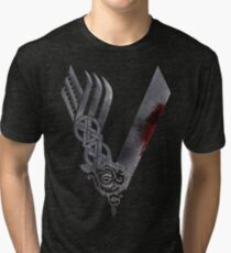 Vikings HD logo Tri-blend T-Shirt