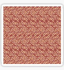 Dainty Flower Print in Red Brown, Yellow, and Orange Sticker