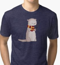 Harry Pawter Otter  Tri-blend T-Shirt