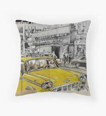 big yellow cab Throw Pillow