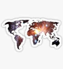 Space Continents Sticker