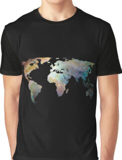 Space Continents Graphic T-Shirt