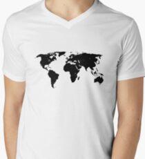 Earth's Continents Men's V-Neck T-Shirt