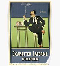 1890s German cigarette advertising  Poster