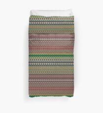 Tribal striped abstract pattern design by Somberlain Duvet Cover
