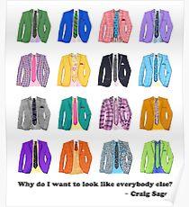 Craig Sager - Colorful Tshirt Poster