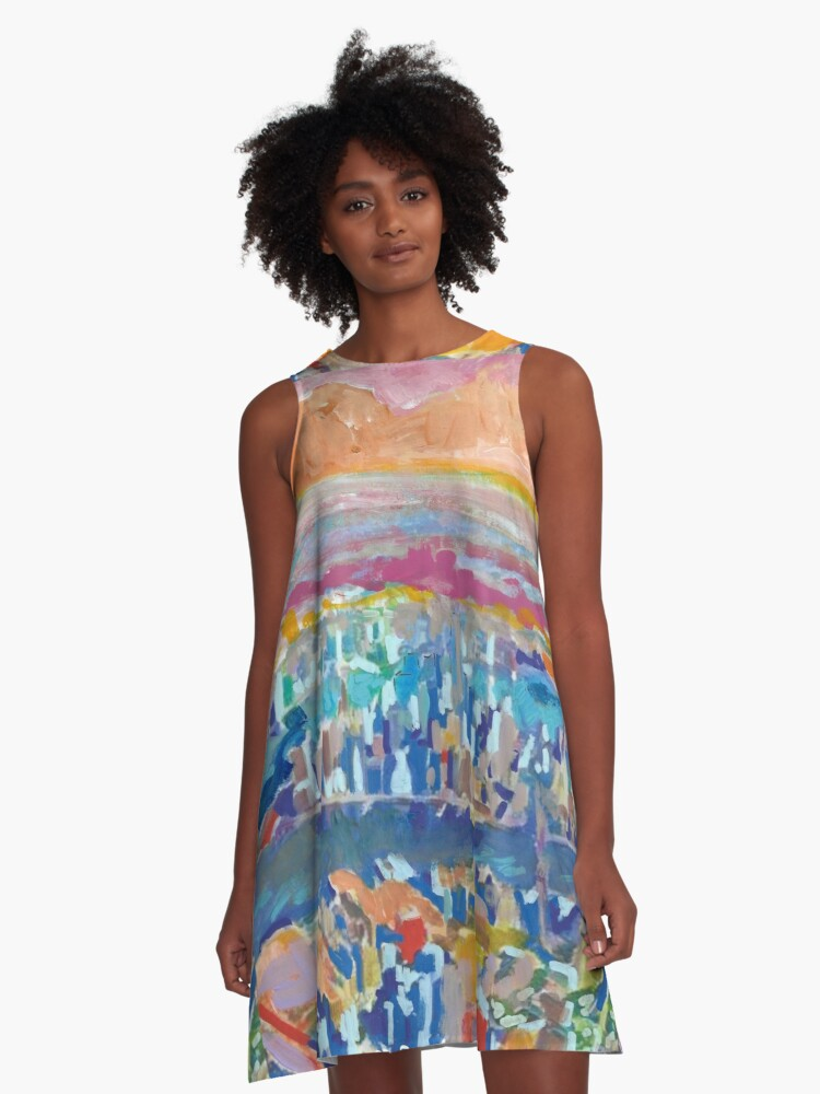 Across New York City by RD Riccoboni A-Line Dress Front