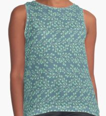Dainty Flower Print in Blue, Gray, and Mint Contrast Tank
