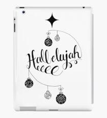 "Hand Written Holiday Themed ""Hallelujah"" iPad Case/Skin"