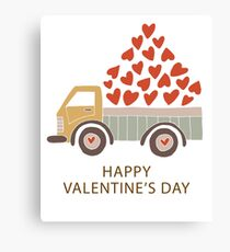 Truckload of Love - Happy Valentine's Day Canvas Print