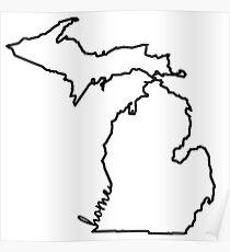 Póster Esquema de casa de Michigan