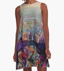 Abstract New York City By RD Riccoboni A-Line Dress