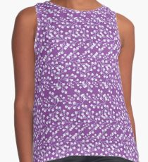 Dainty Flower Print in Lavender, Purple, and Grey Contrast Tank
