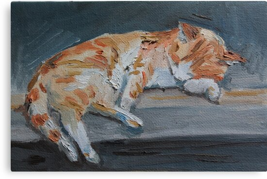 Lola asleep by Emma Cownie