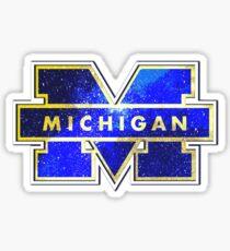 Galaxy University of Michigan Sticker