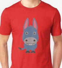 Happy Cartoon Donkey Unisex T-Shirt