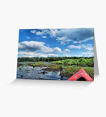 Kayaking in the Springs Greeting Card