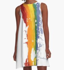 Pride Parade Rainbow Diversity by RD RIccoboni A-Line Dress