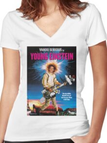 Young Einstein Women's Fitted V-Neck T-Shirt