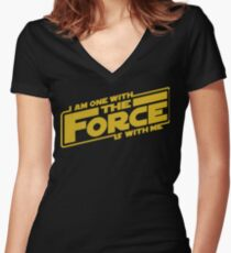 I am one with it Women's Fitted V-Neck T-Shirt