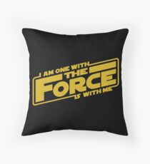 I am one with it Throw Pillow