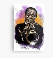 Louis Armstrong Tribute Metal Print