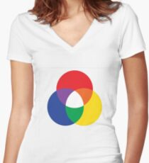 couleurs couleurs Women's Fitted V-Neck T-Shirt
