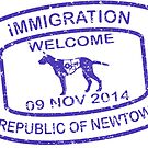 Republic of Newtown - 2014 : Sticker Blue by Ethel Yarwood