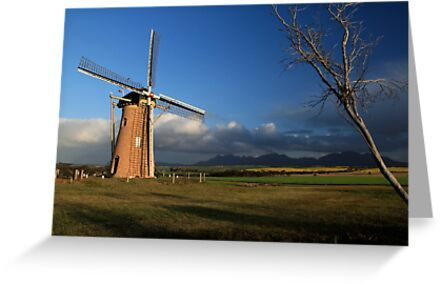 Windmill landscape by Ongoingline