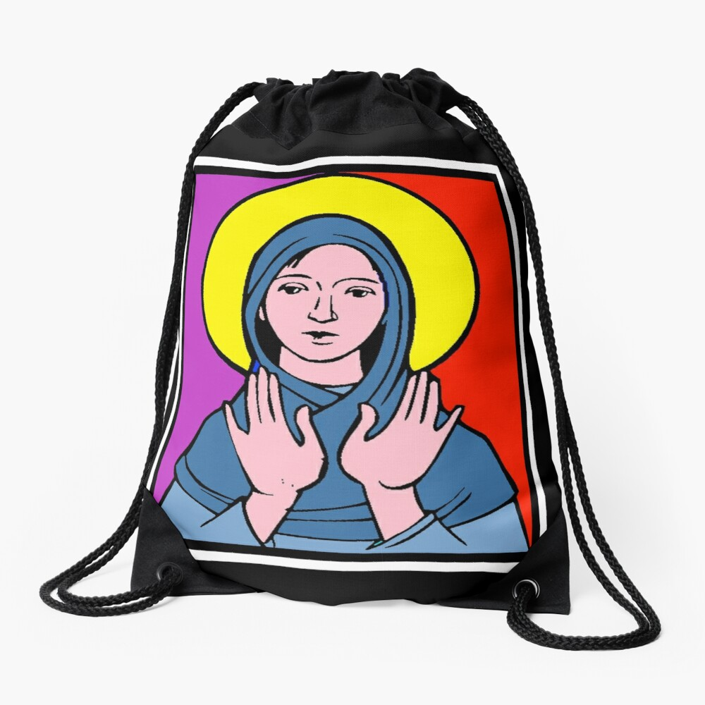 THE VIRGIN MARY Drawstring Bag