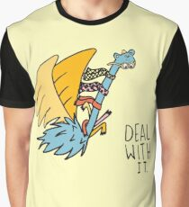 Deal With It Illustration Graphic T-Shirt