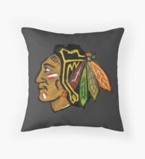 Chicago Blackhawks Paint Throw Pillow