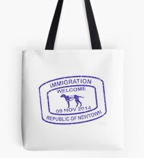 Republic of Newtown - 2014: Blue Tote Bag