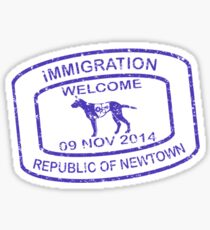 Republic of Newtown - 2014 : Sticker Blue Sticker