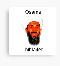 Osama Bit Laden Canvas Print