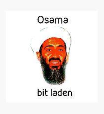 Osama Bit Laden Photographic Print