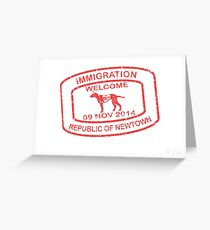 Republic of Newtown - 2014: Red Greeting Card