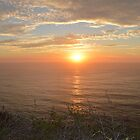 Sunset above Pacific ocean by loiteke