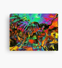 Psychedelic Struggle (Just for fun) Canvas Print