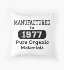 Manufactured in 1977 Throw Pillow