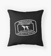 Republic of Newtown - 2014: White Throw Pillow